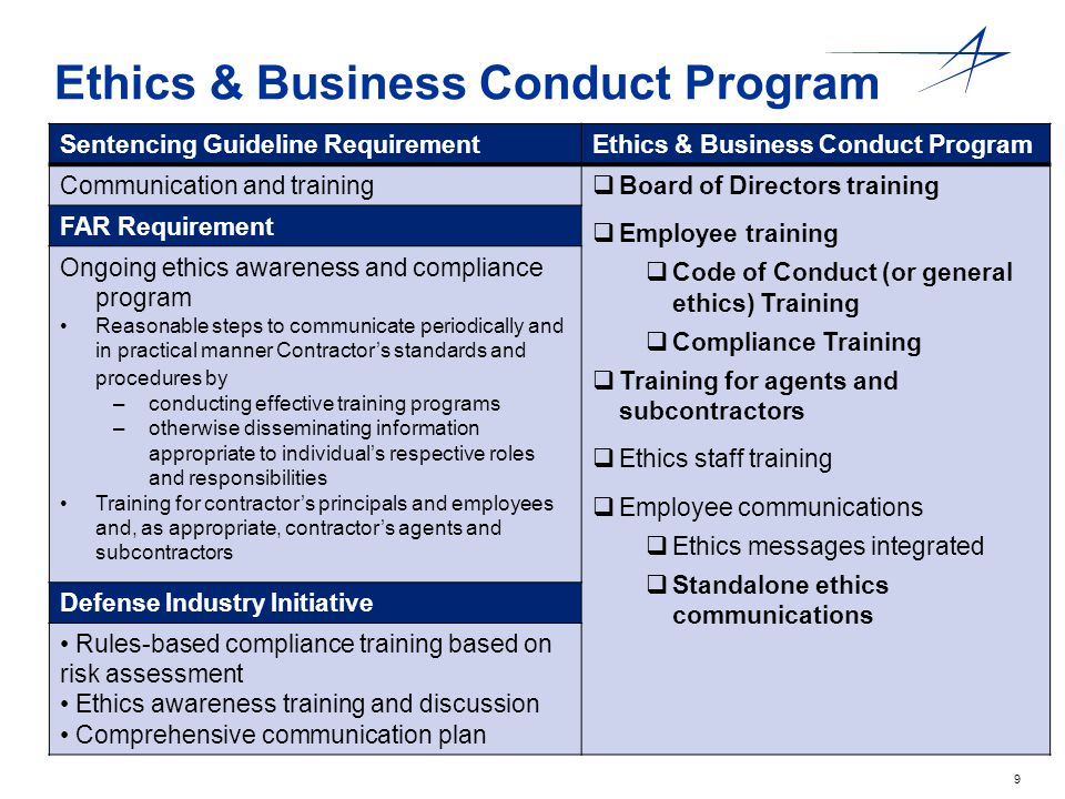 Ethics & Business Conduct