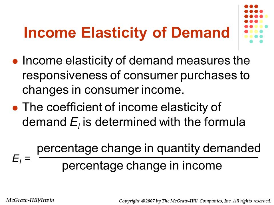 income elasticity of insurance Elasticity measures the relationship between a good and its price based on  consumer demand, consumer income, and its available supply.