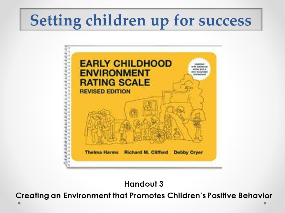 Setting children up for success