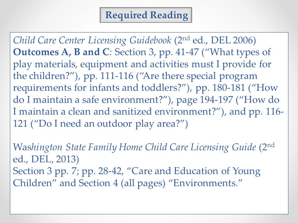 child care center licensing guidebook