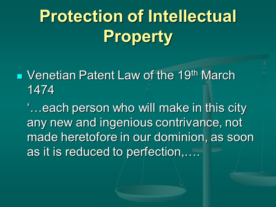 Intellectual Property Rights And Patent Law Ppt