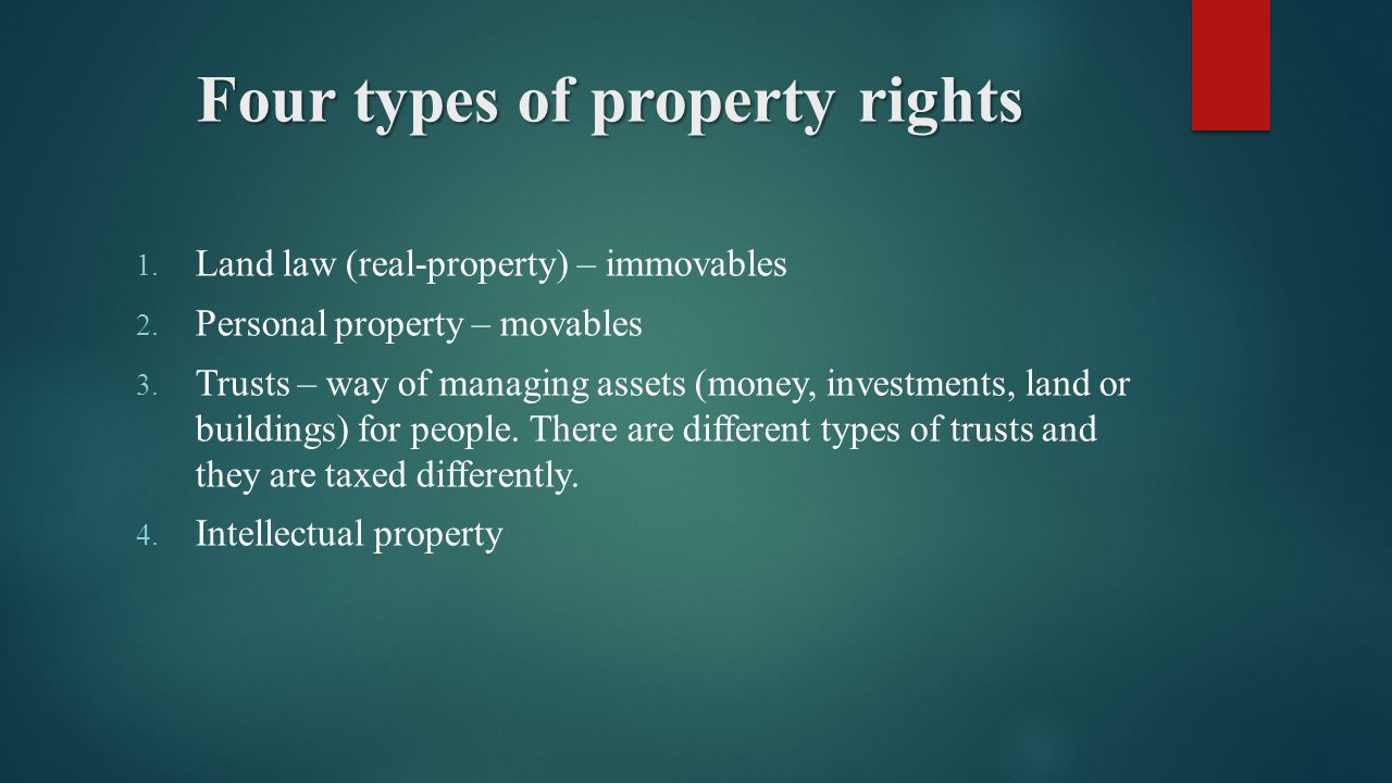 property right The definition of property rights sounds simple however, there is a lot more to  property rights than meets the eye this lesson will provide.