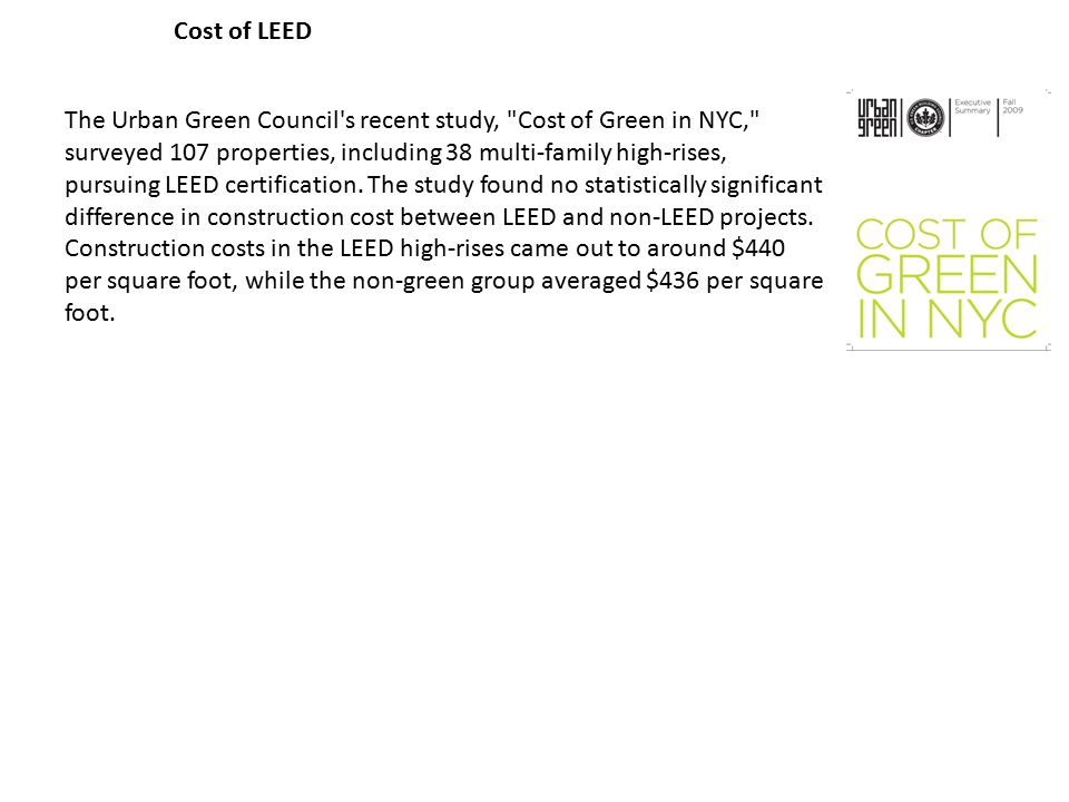 Introduction to green building ppt download for Advantages of leed certification