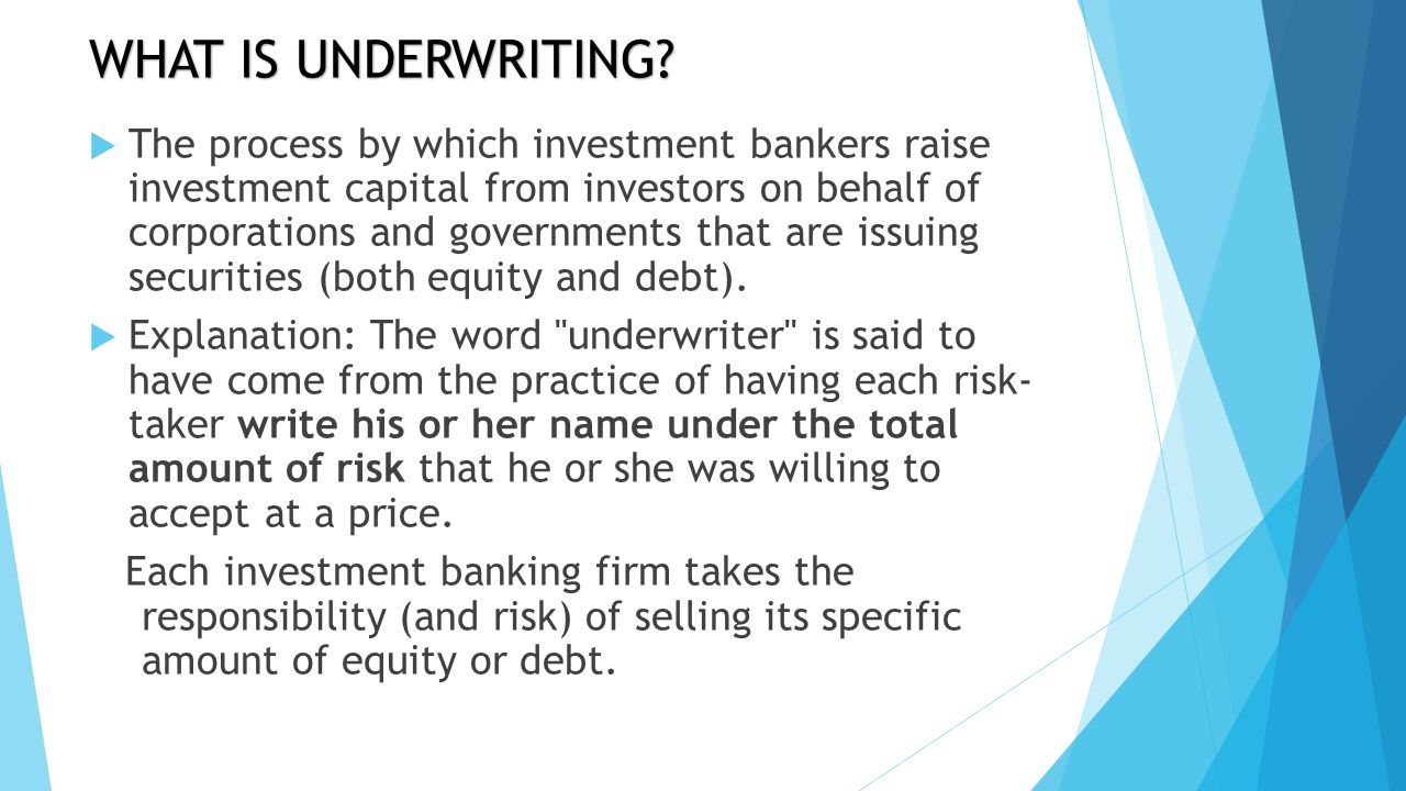 Centralized vs. decentralized underwriting