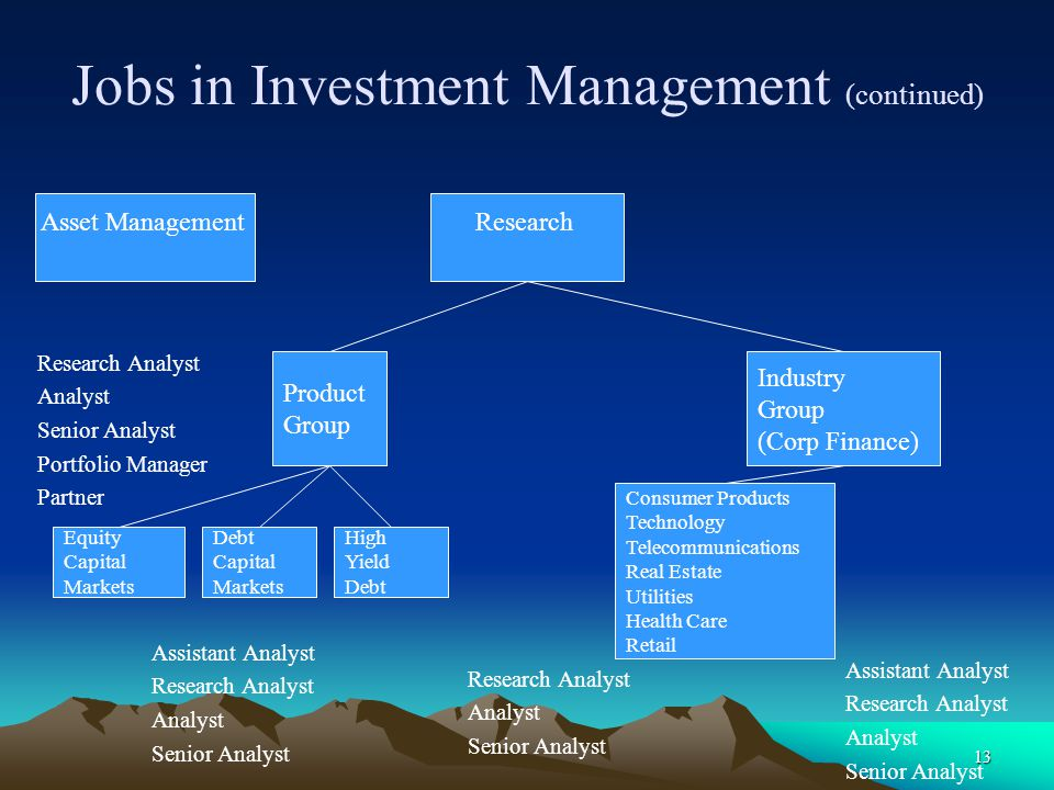 Jobs in Investment Management (continued)