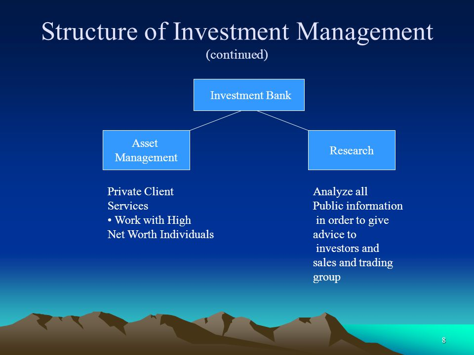 Structure of Investment Management (continued)