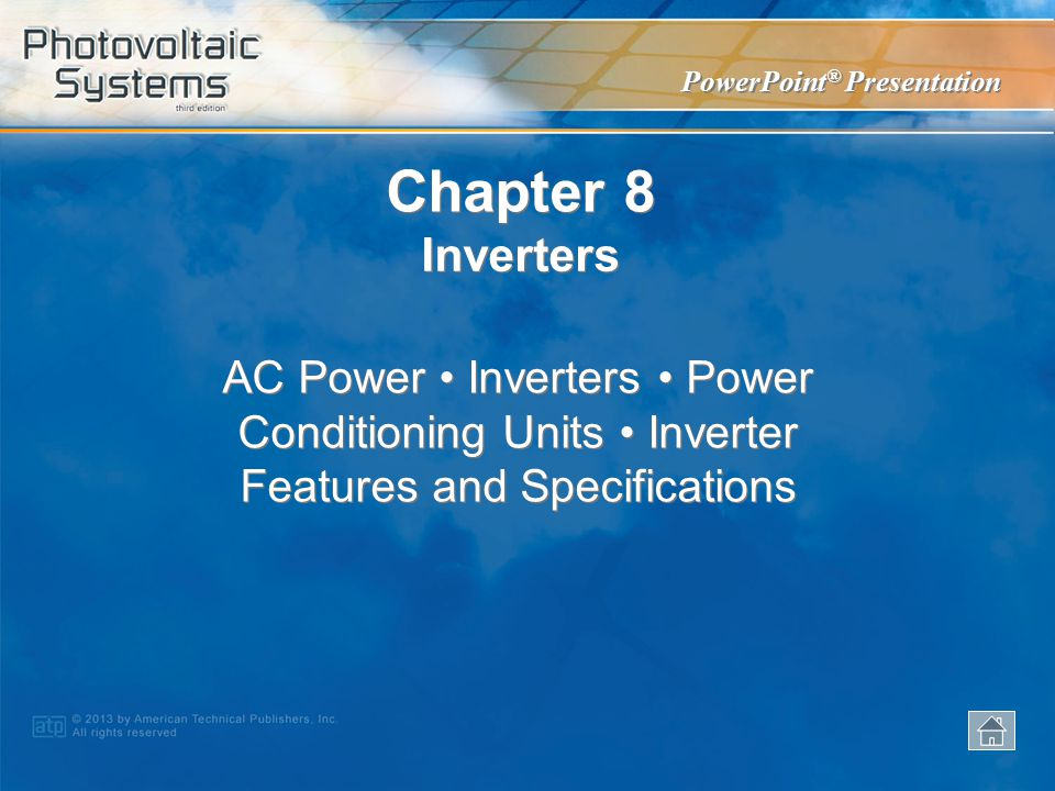 Chapter 8 Inverters.