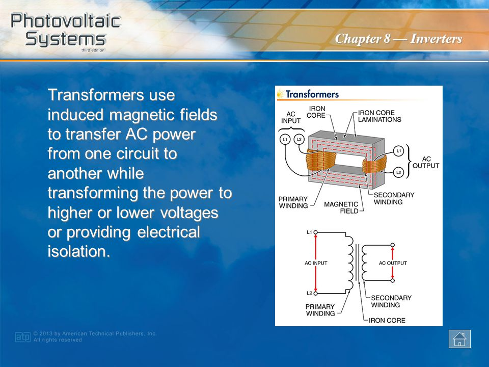 Transformers use induced magnetic fields to transfer AC power from one circuit to another while transforming the power to higher or lower voltages or providing electrical isolation.