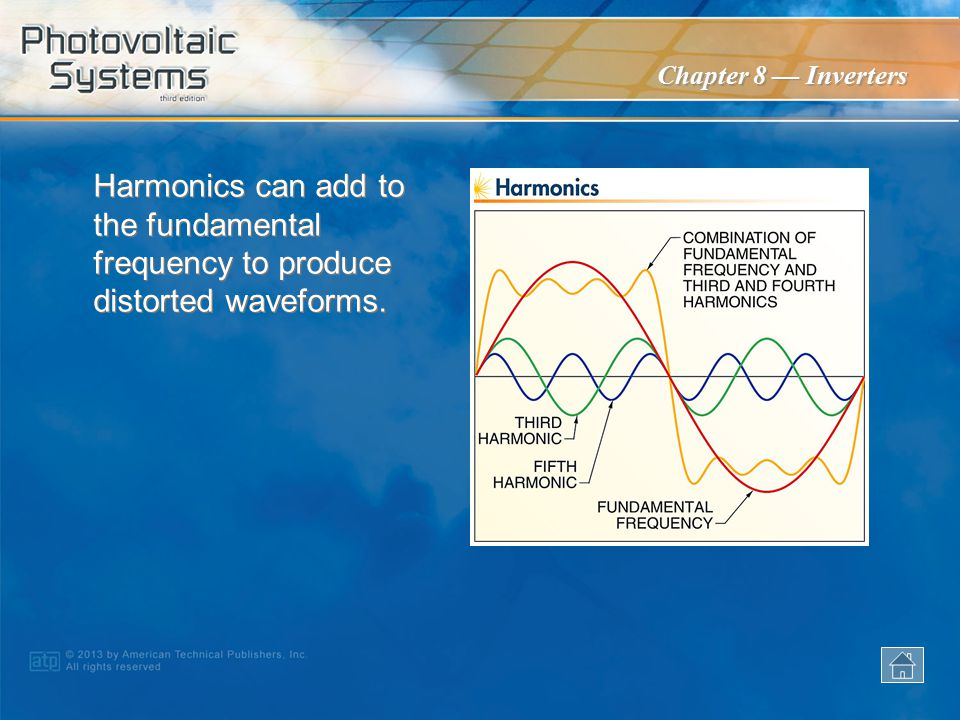 Harmonics can add to the fundamental frequency to produce distorted waveforms.