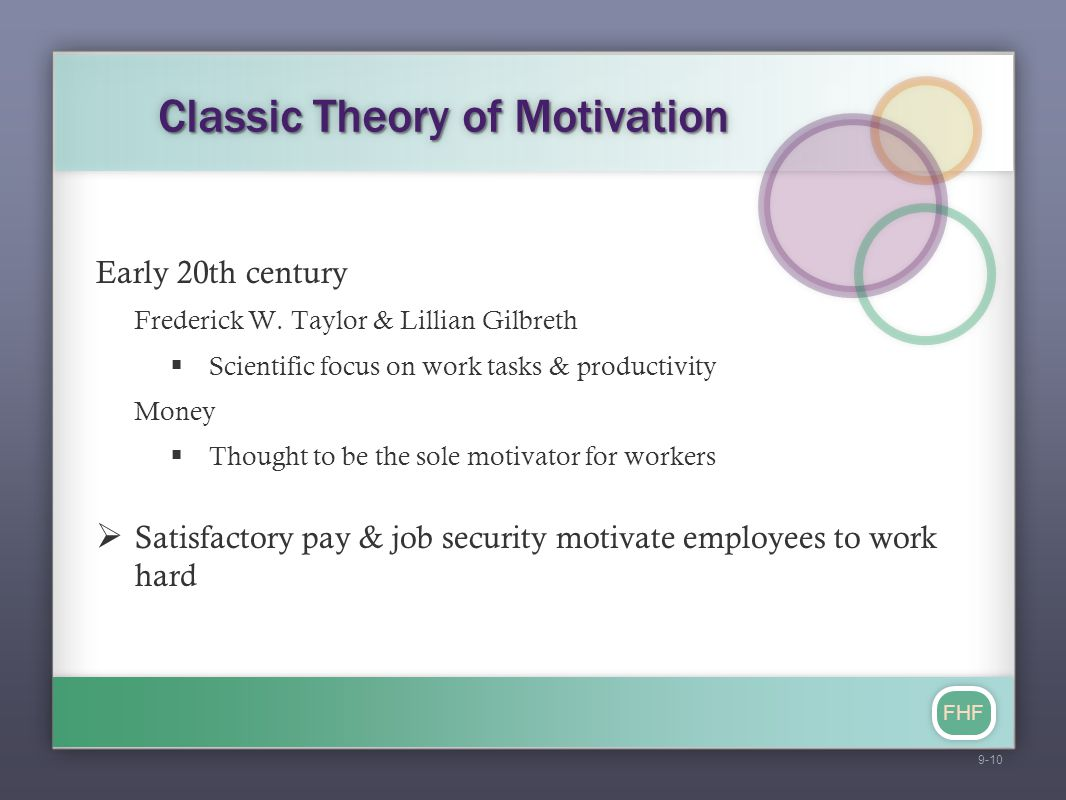 Classic Theory of Motivation