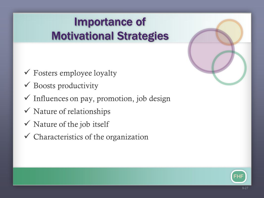 Importance of Motivational Strategies