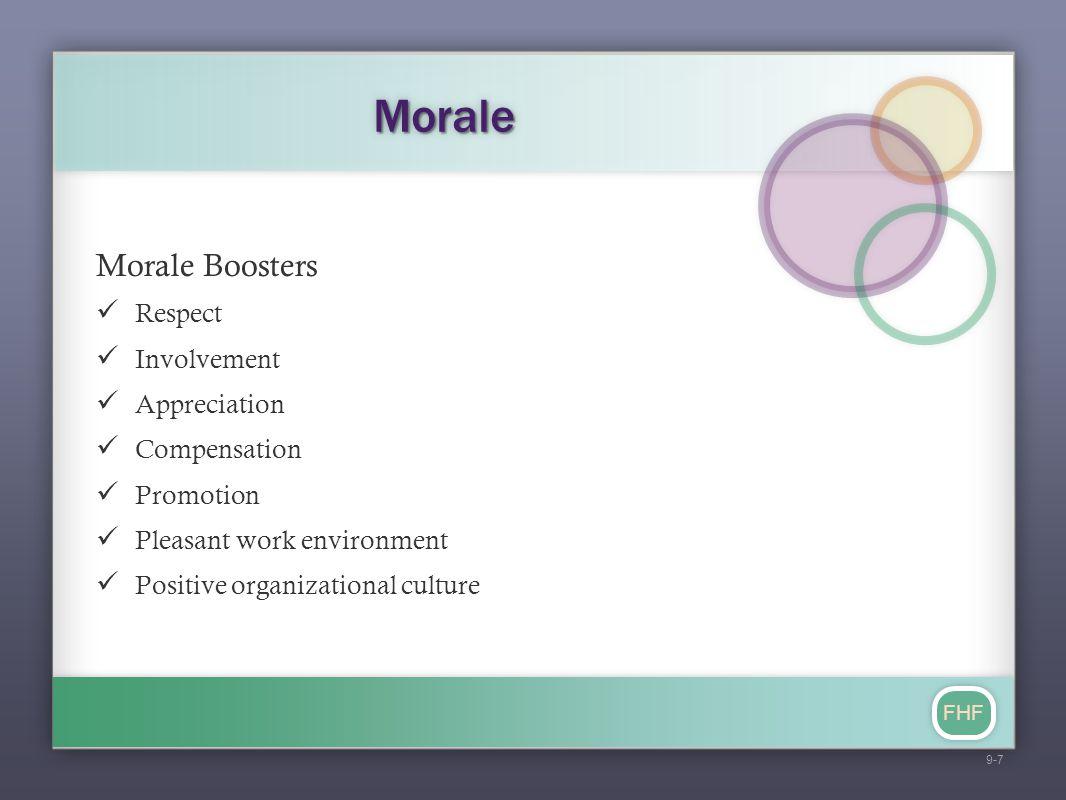 Morale Morale Boosters Respect Involvement Appreciation Compensation