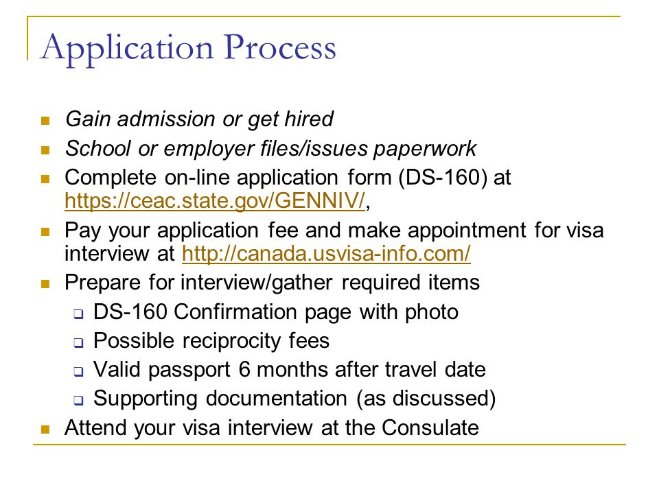 Application Process Gain admission or get hired