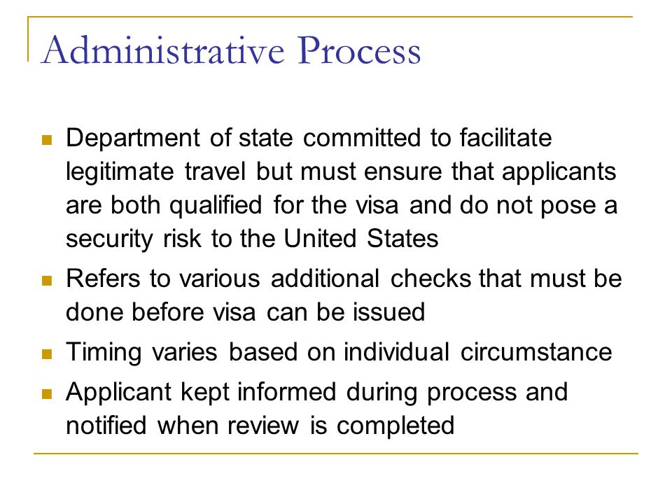 Administrative Process