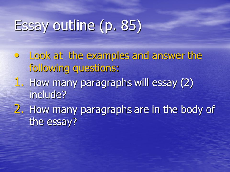 outlining essay questions