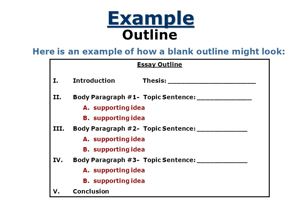 A Plan That Builds An Essay  Ppt Video Online Download