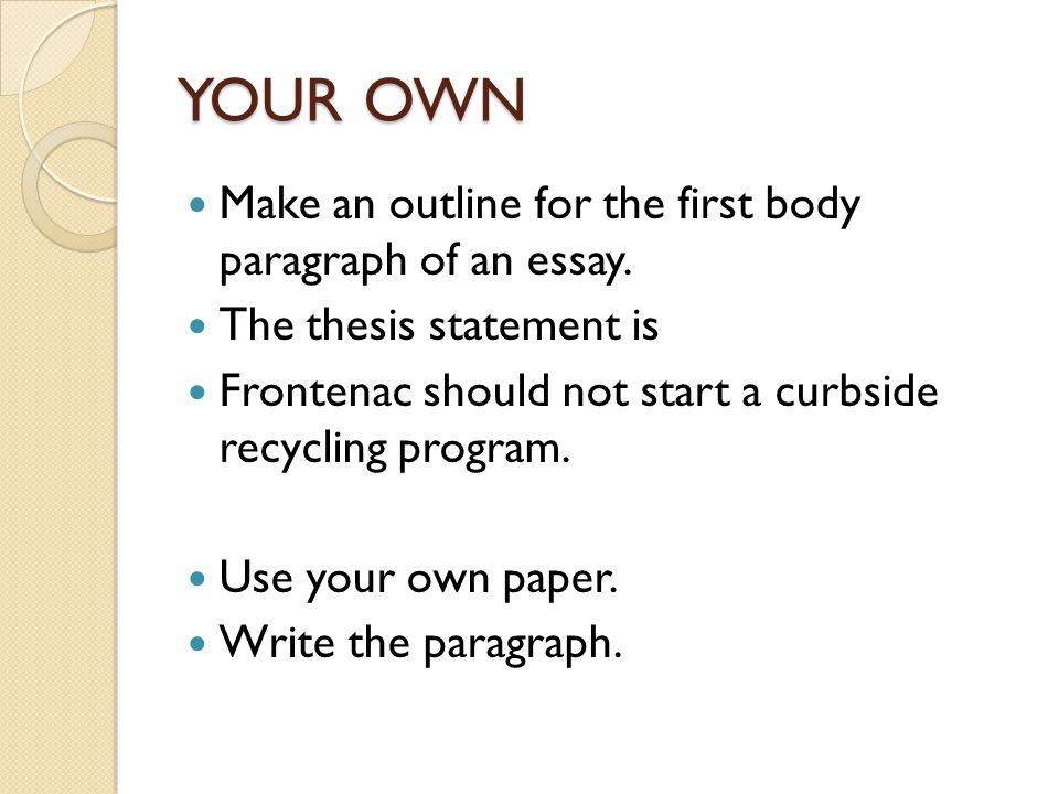 recycling essay thesis