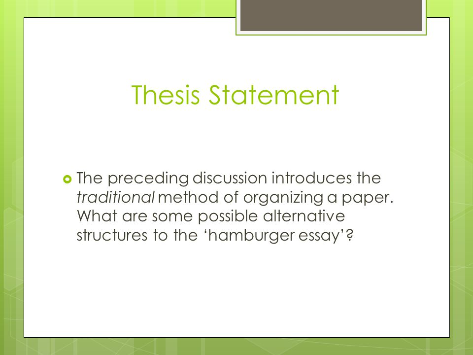 structure of a thesis paper 2 your thesis statement should be specific—it should cover only what you will discuss in your paper and should be supported with specific evidence 3 the thesis statement usually appears at the end of the first paragraph of a paper 4.