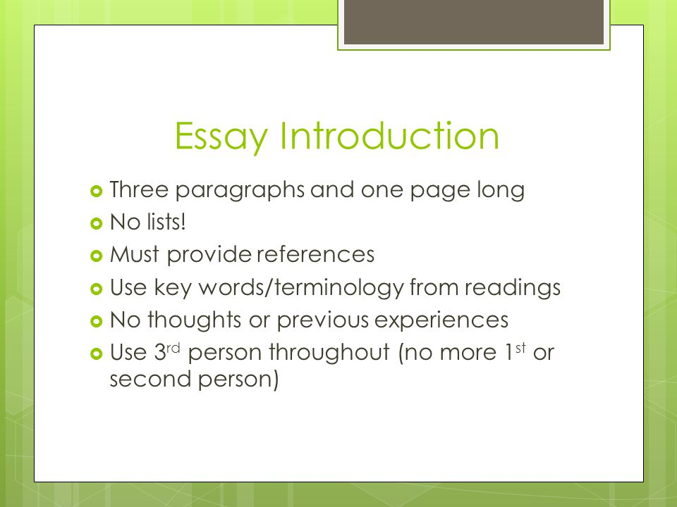 Long essay children