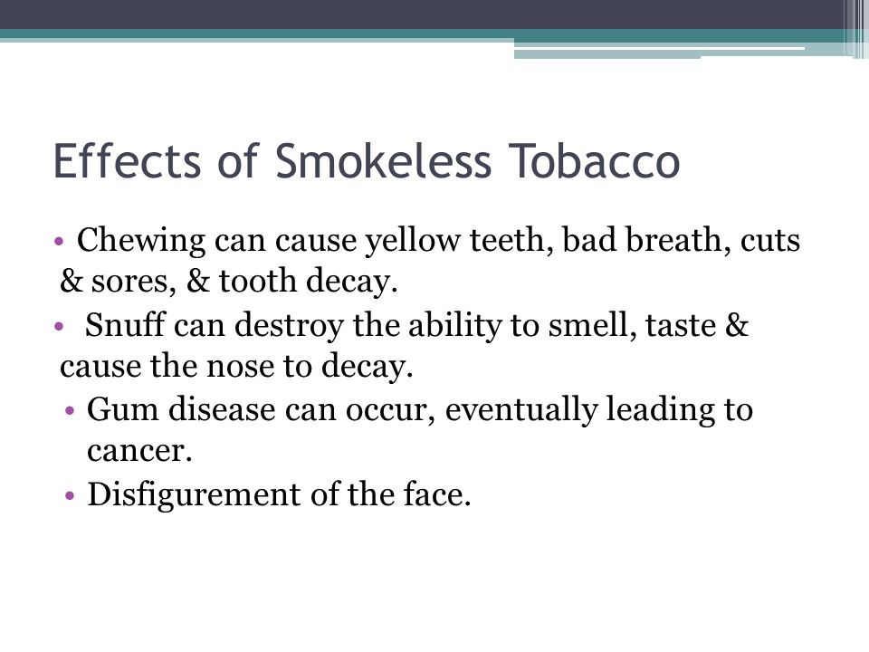 cause and effect on smokeless tobacco The effect of smokeless tobacco on specific plasma lipopro-  effect of smokeless tobacco on plasma lipoproteins, despite its dramatic increase in use.