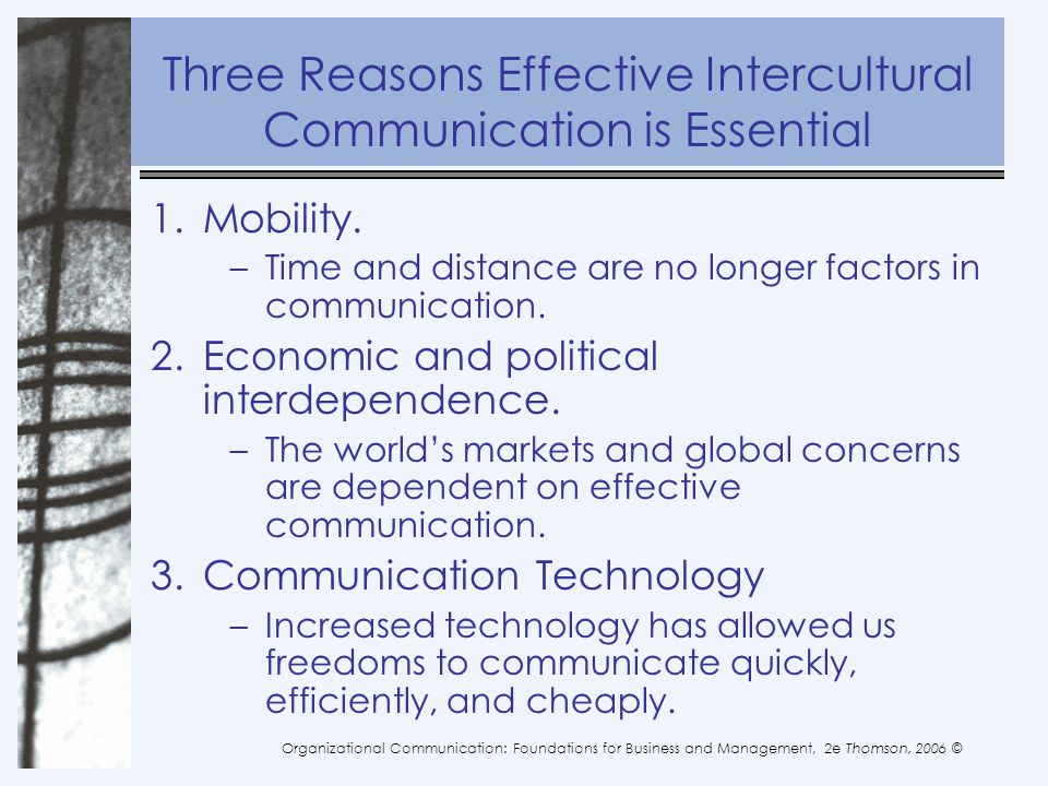 reasons for communication Communication is the exchange of a message between two or more people everyone communicates in many different ways and for many different reasons communication can be expressive or receptive.