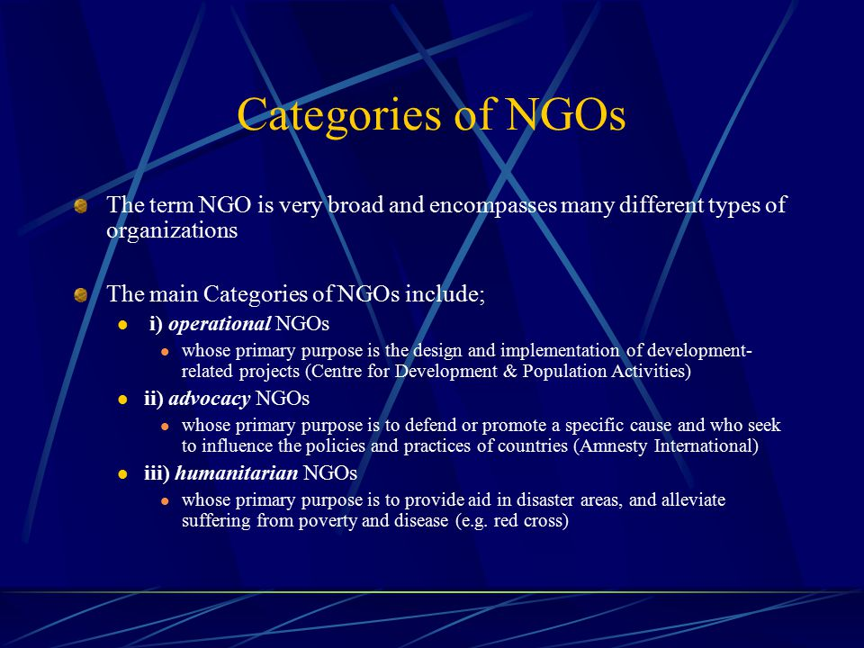 the impact of ngos on international policies Bill morton 1 introduction  case of international non-governmental organizations  about structural or policy change an overview of international ngos in.