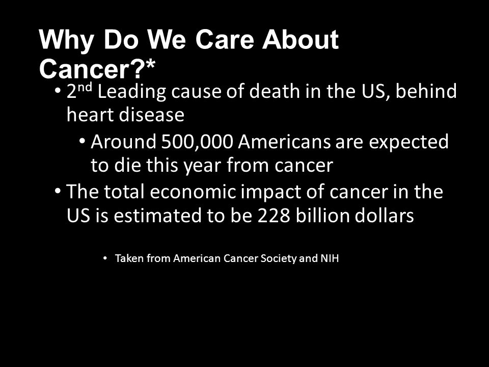 Why Do We Care About Cancer *