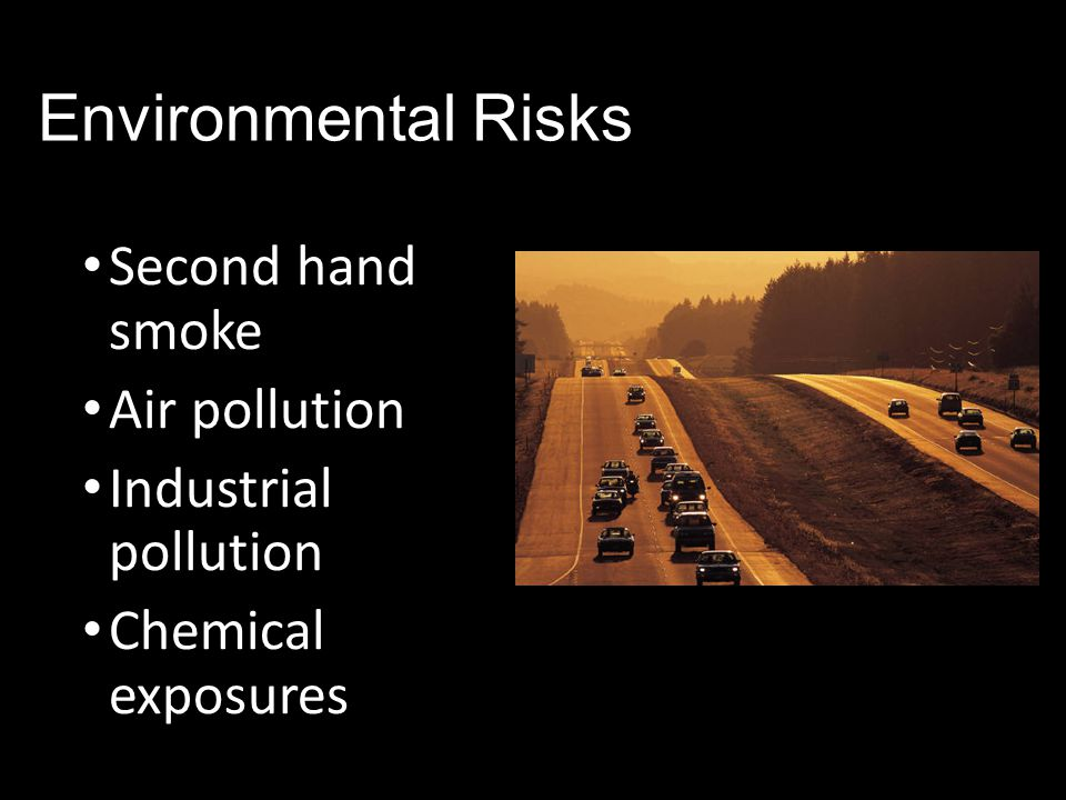 Environmental Risks Second hand smoke Air pollution