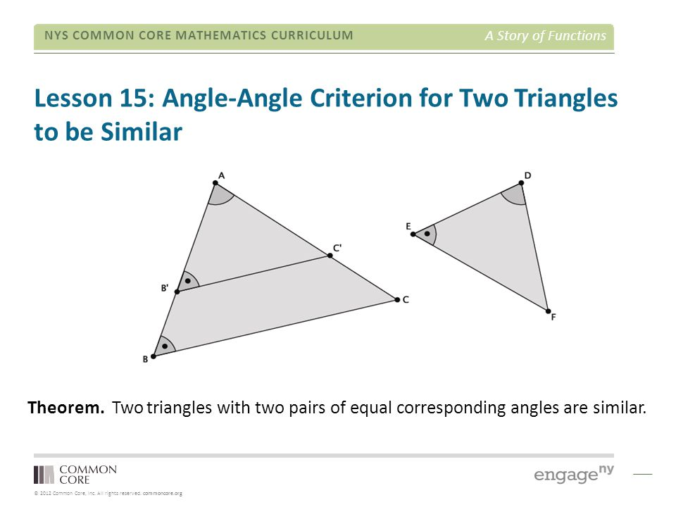 the relationship between similar triangles word
