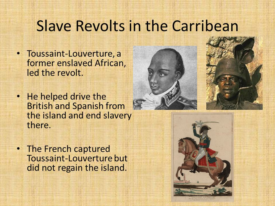 Slave Revolts in the Carribean