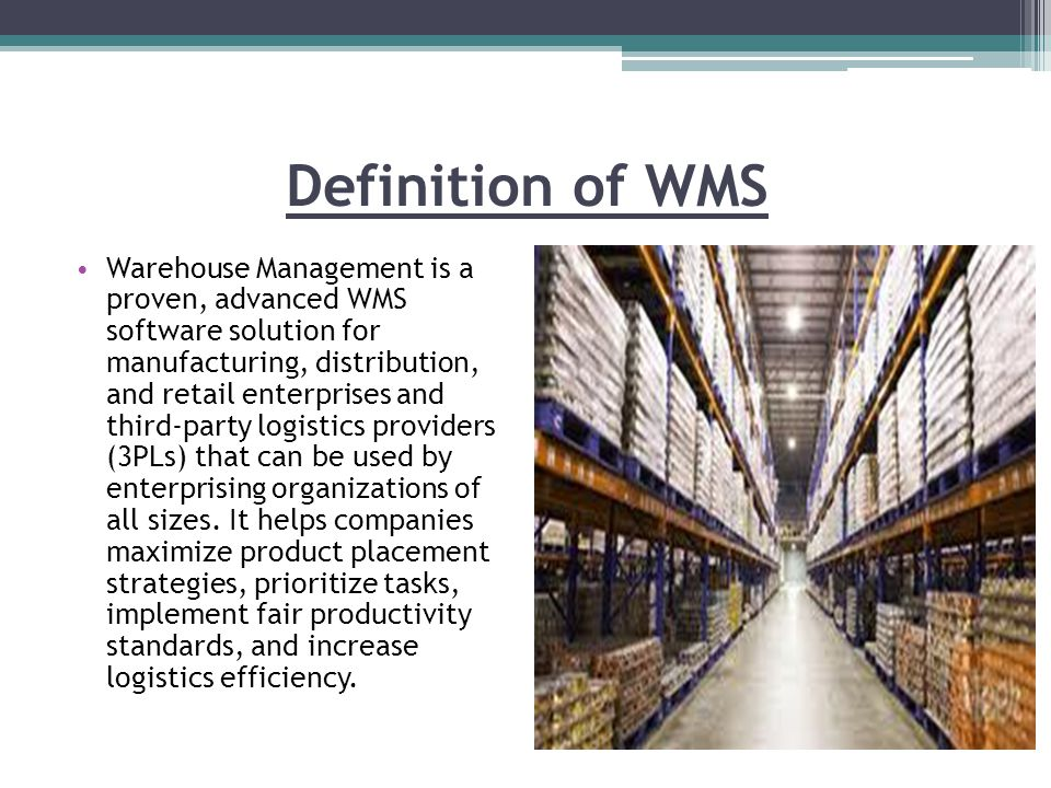 Warehouse Management System Ppt Video Online Download
