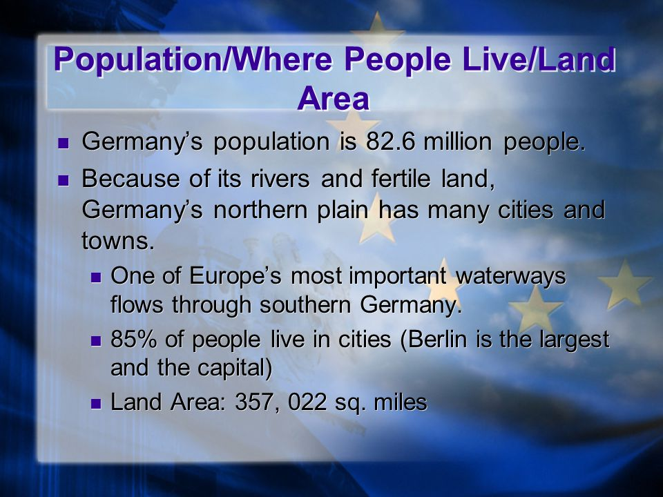 Population/Where People Live/Land Area