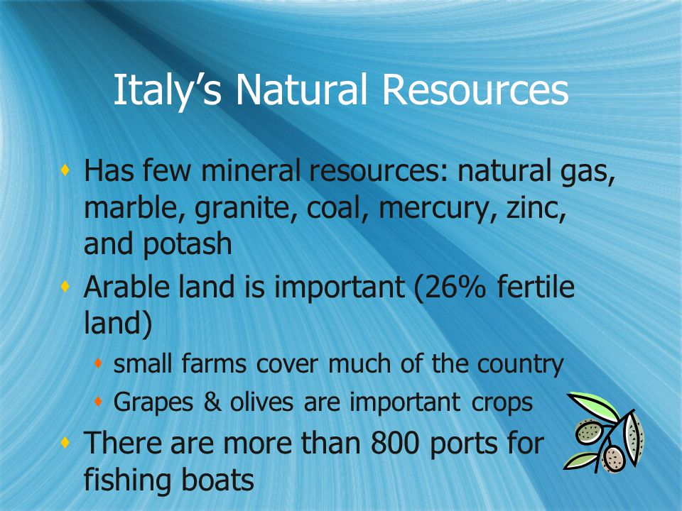 Italy's Natural Resources