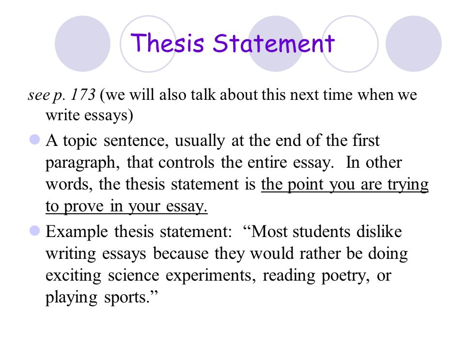 session  writing conventions and writing strategies  ppt download  thesis statement