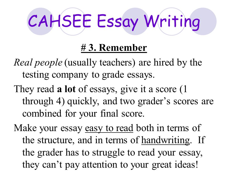 cahsee essay grading rubric Uw drumspecialist usatestprep offers test prep resources to support teachers and administrators request your free trial of state-aligned practice tests 17 07 2017.
