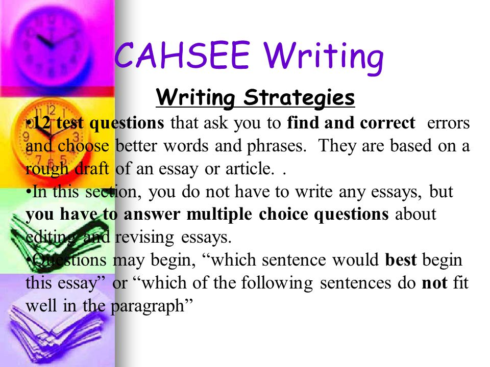 write good essay question As teachers, constructing strong and solid tests can be a daunting task students never want to take tests, but they especially don't want to take a test that makes little sense or seems to have been.