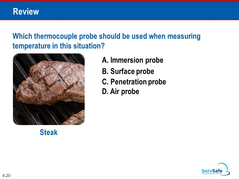 Penetration temperature for food
