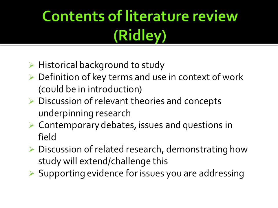literature review definition