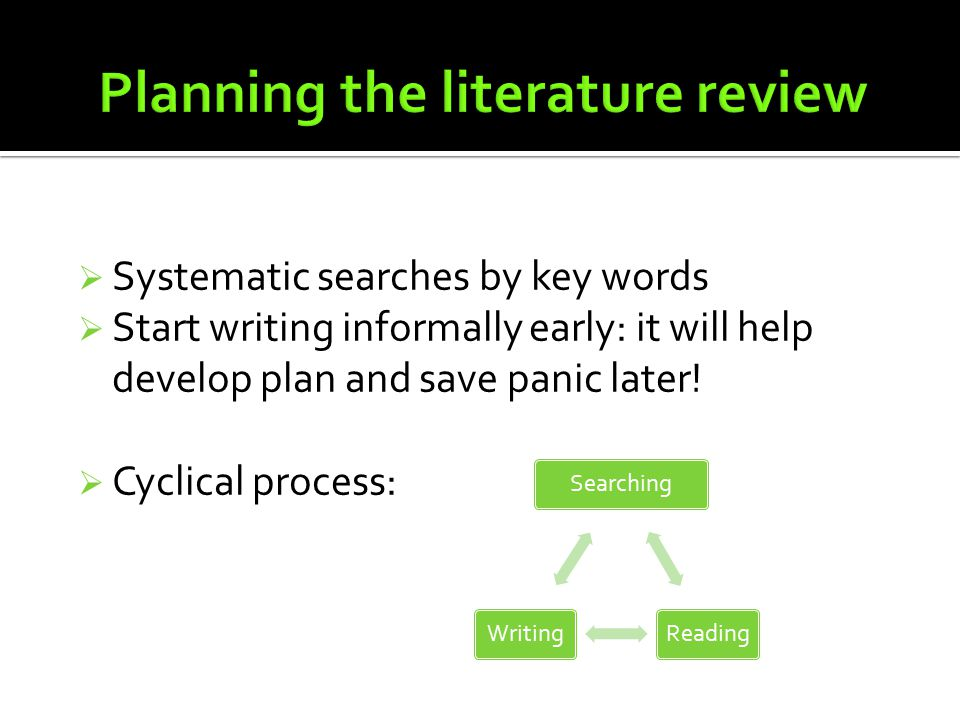 literature review of proposal ResearchGate