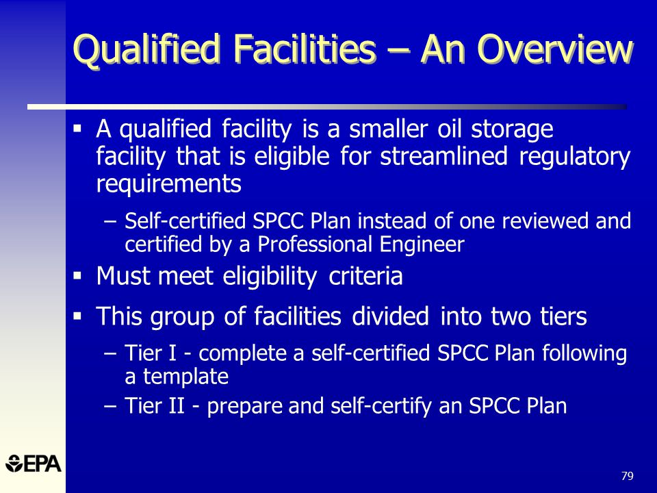 The spcc rule and recent amendments ppt download 79 qualified facilities pronofoot35fo Choice Image