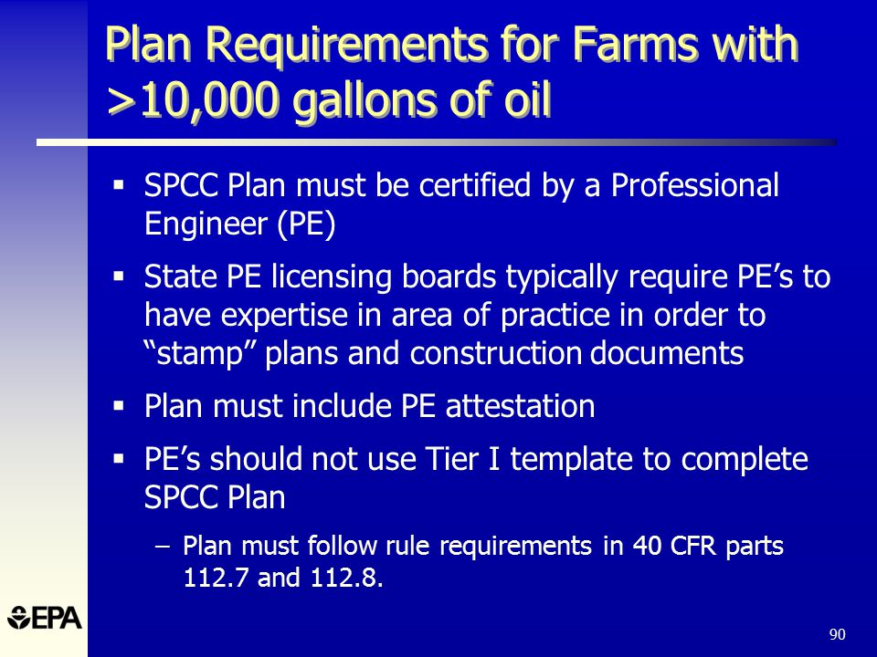 The spcc rule and recent amendments ppt download 90 plan requirements pronofoot35fo Choice Image