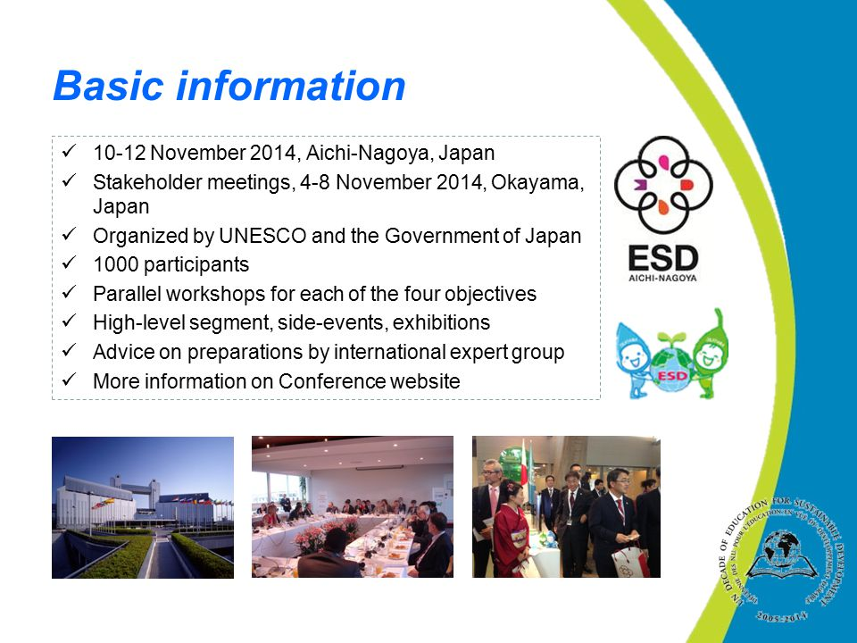 Basic information November 2014, Aichi-Nagoya, Japan