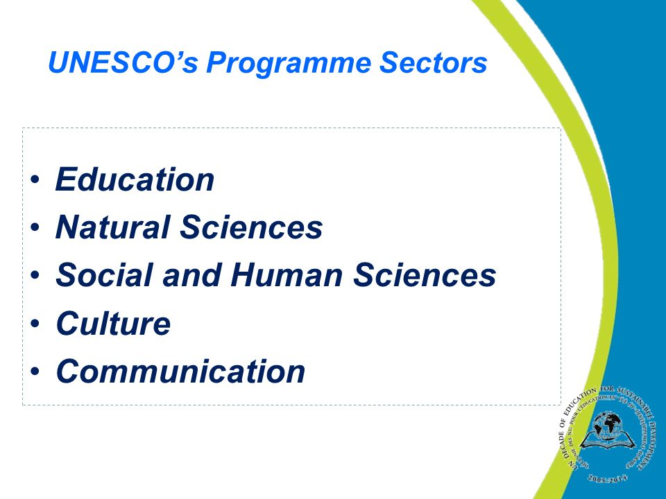 UNESCO's Programme Sectors