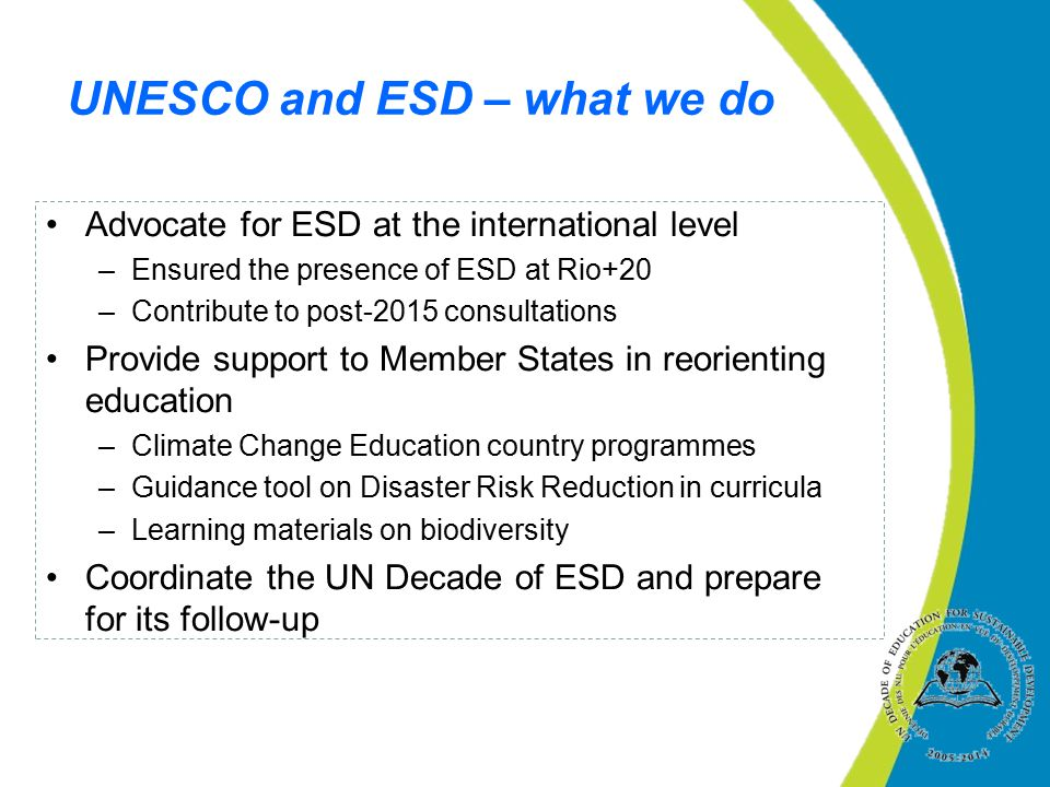 UNESCO and ESD – what we do