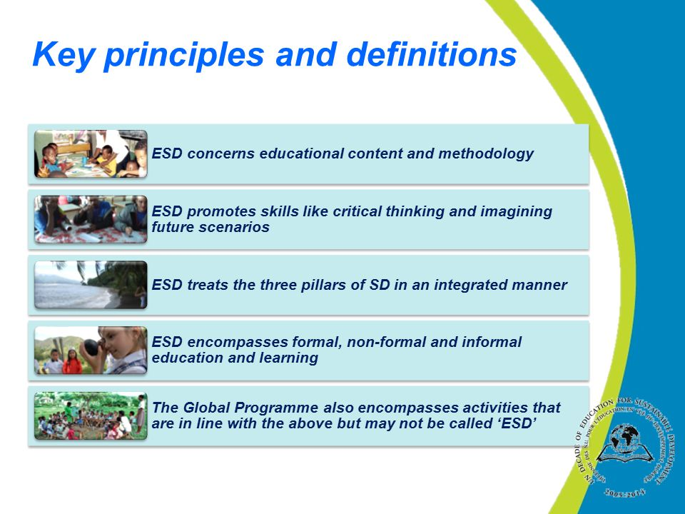 Key principles and definitions