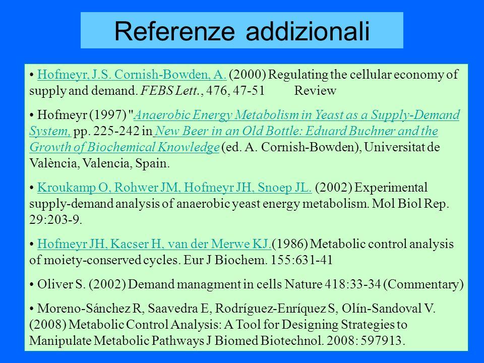 Referenze addizionali