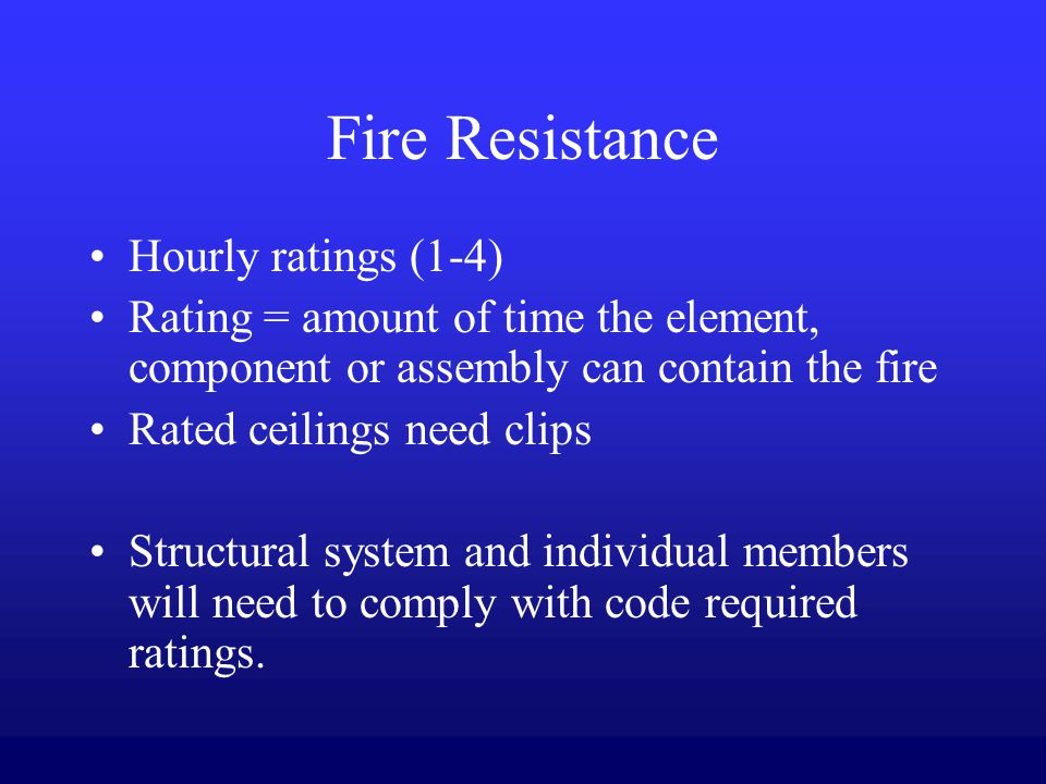 Fire Resistance Rated Assembly Identification : The design operation and maintenance of building systems