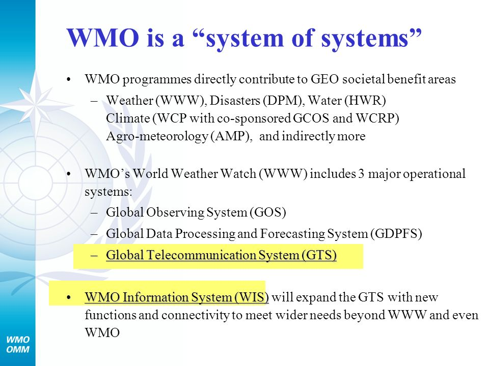 WMO is a system of systems