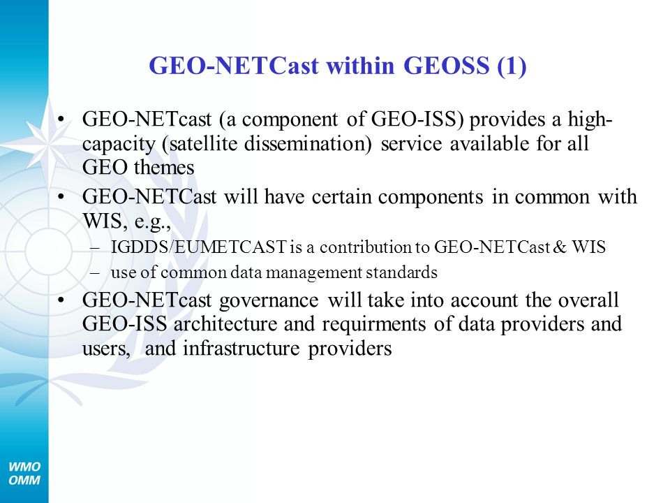 GEO-NETCast within GEOSS (1)