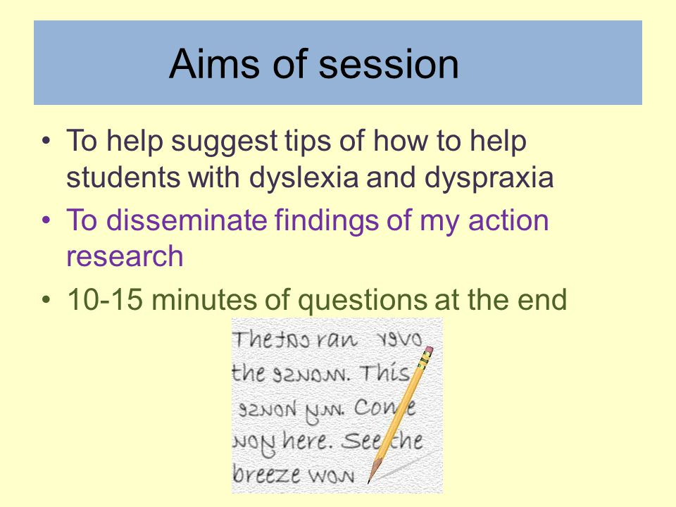 dyslexia and handwriting research
